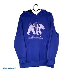 Cabela's Women's Blue Wild and Free Hoodie